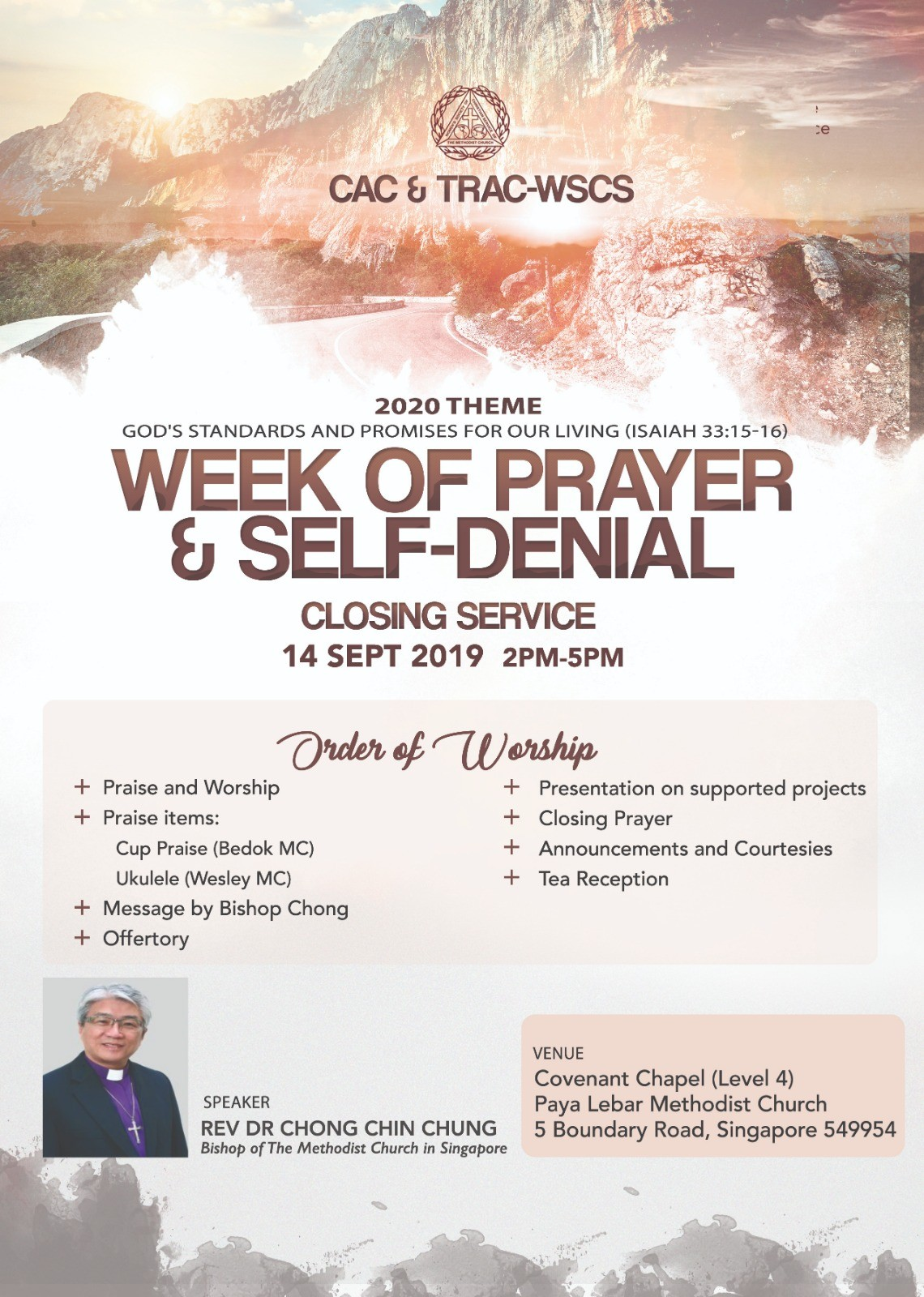 WSCS Week of Prayer and Self-Denial Closing Service (CAC & TRAC)