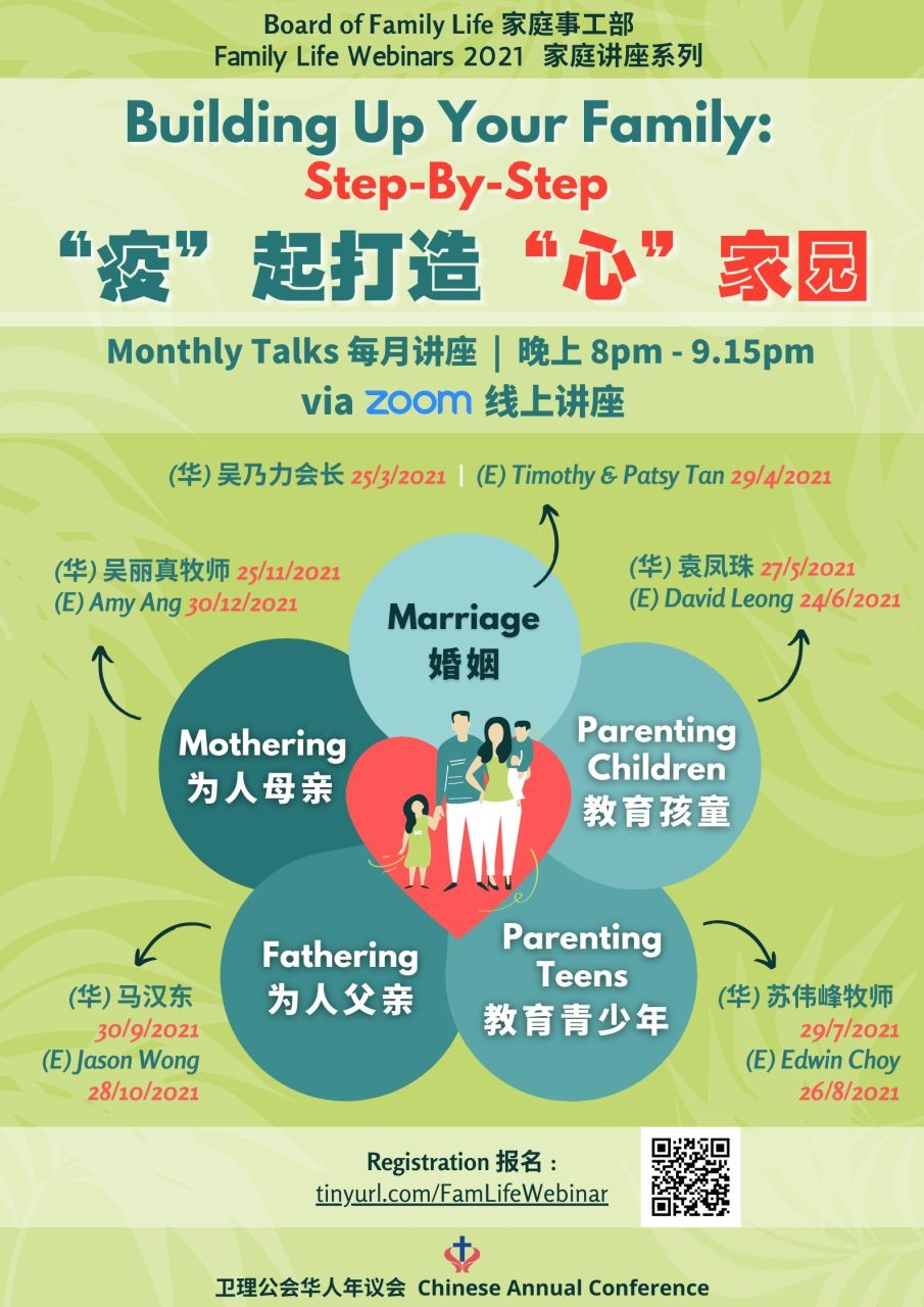 Building Up Your Family: Step-by-Step   神所设立的婚姻 (CAC BOFL)