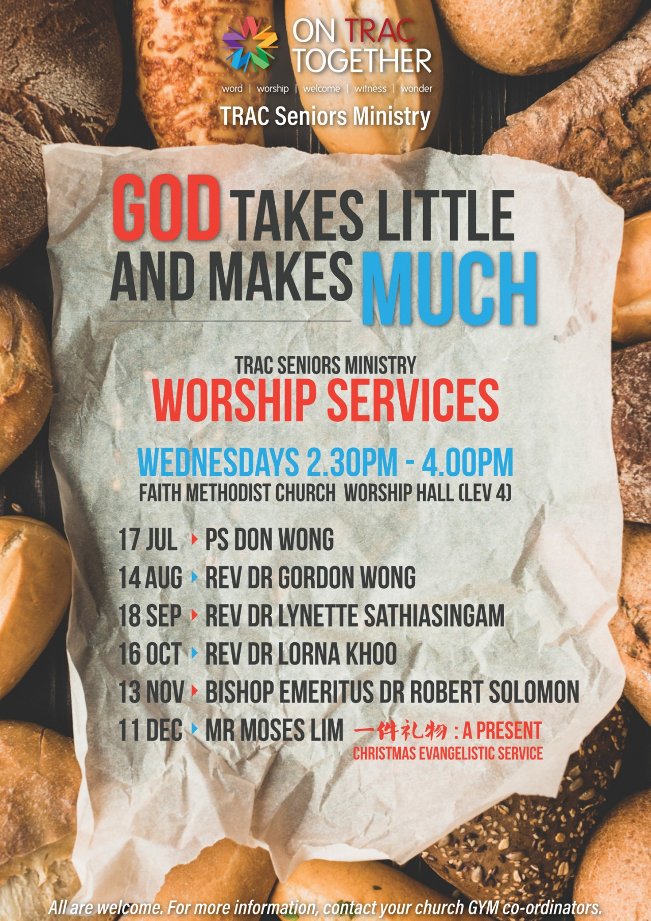 God Takes Little and Makes Much (TRAC Seniors Ministry)