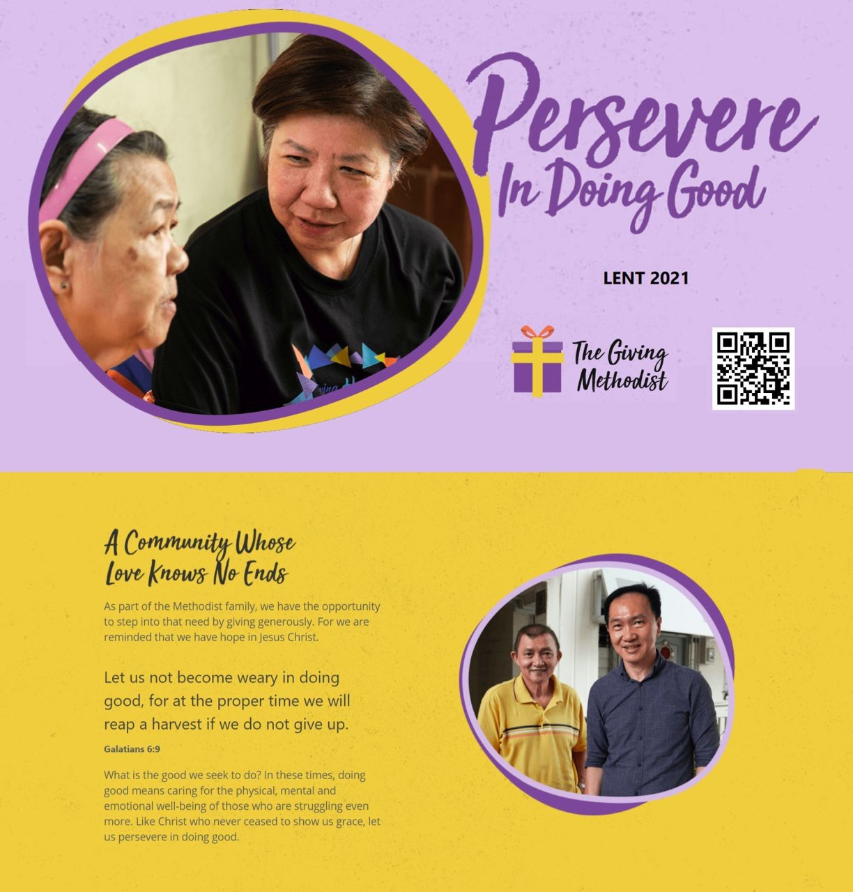 Persevere in Doing Good (The Giving Methodist)