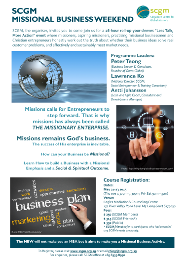 Missional Business Courses by SCGM