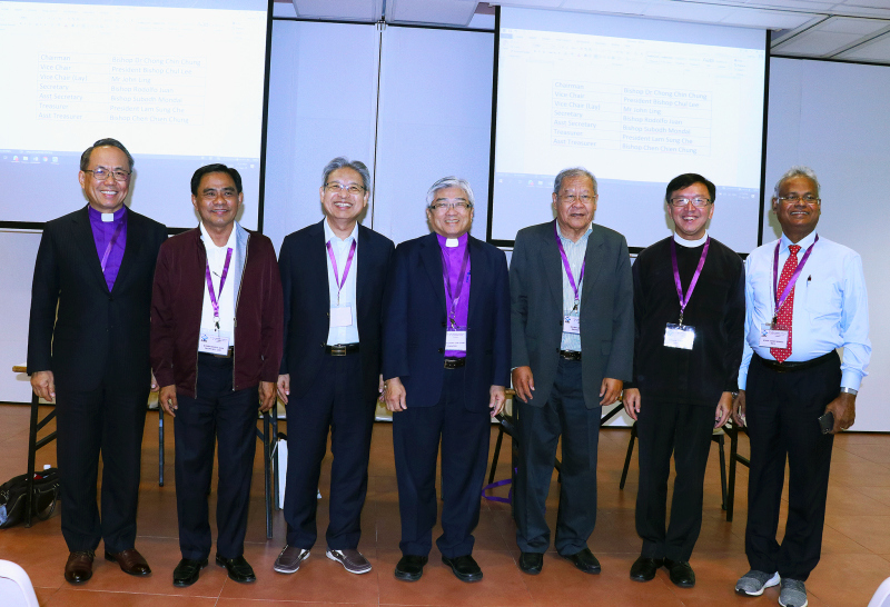 Newly Elected Executive Committee of the Asian Methodist Council (2018)